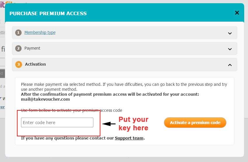 activate hitfile premium key